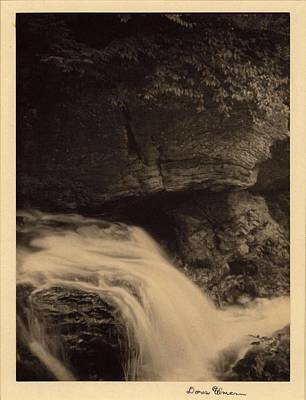 Namaste With Pixels - Doris Ulmann   1882 1934 , Waterfall with rock cliffs and overhanging trees by Doris Ulmann
