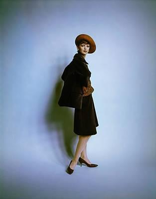 Slouching Photograph - Dorothea Mcgowan Wearing Clare Potter by Bert Stern