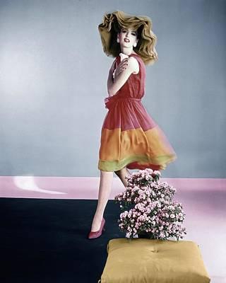 Photograph - Dorothea Mcgowan Wearing Galanos by Horst P. Horst