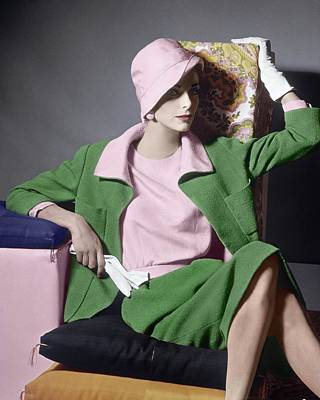 Photograph - Dorothea Mcgowan Wearing Norman Norell by Horst P. Horst