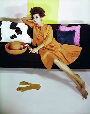 Photograph - Dorothea Mcgowan Wearing Vogue Patterns by Horst P. Horst