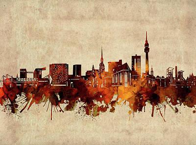 Abstract Shapes Janice Austin - Dortmund Skyline Sepia by Bekim M
