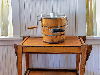 Photograph - Dotson House And Restaurant - Ice Cream Maker by Gene Parks