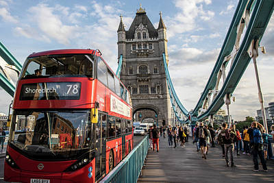 Photograph - Double Decker And Tower Bridge  by John McGraw
