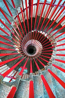 Photograph - Double Helix Staircase In Ljubljana by Sebastian Condrea