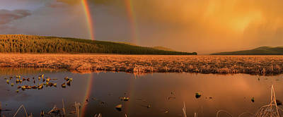 Photograph - Double Rainbow Light by Leland D Howard