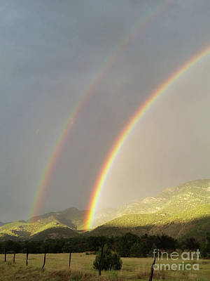 Photograph - Double Rainbow by Tony Baca