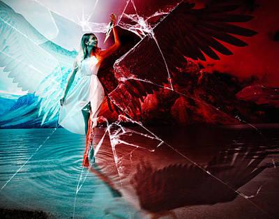 Digital Art - Doublesided Angel by Galatia420
