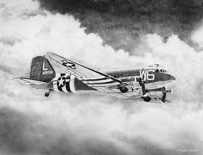 Drawing - Douglas C-47 by Douglas Castleman