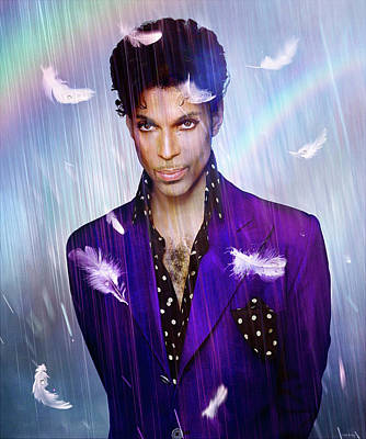 Musicians Mixed Media Royalty Free Images - Doves Cry Royalty-Free Image by Mal Bray