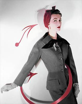 Photograph - Dovima Wearing A Ben Zuckerman Suit by Horst P. Horst