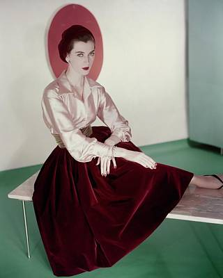 Photograph - Dovima Wearing Germaine Monteil Make-up by Horst P. Horst
