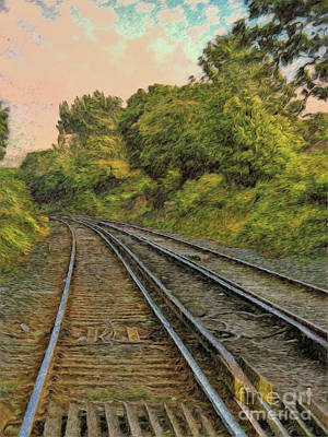 Photograph - Down The Track by Leigh Kemp