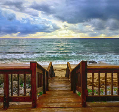 Photograph - Down To The Beach by Debra and Dave Vanderlaan
