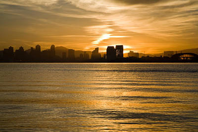 Photograph - Down Town San Diego by Brookselliott
