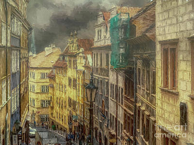 Photograph - Downhill, Downtown, Prague by Leigh Kemp