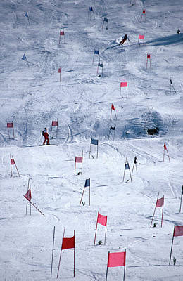Photograph - Downhill Ski Race, United States Of by Mark Newman