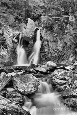Photograph - Downstream From Bash Bish Black And White by Adam Jewell