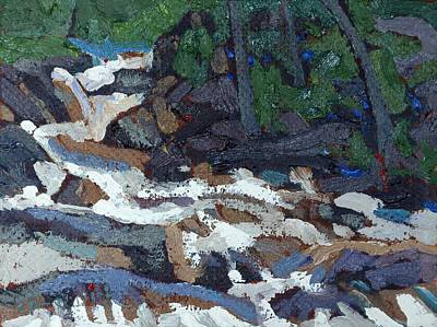 Painting - Downstream From The Grande Chute Ledges by Phil Chadwick