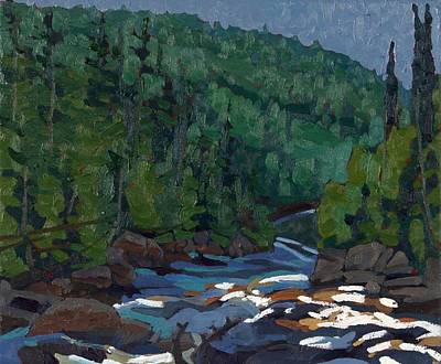 Painting - Downstream On The Dumoine Grande Chute by Phil Chadwick