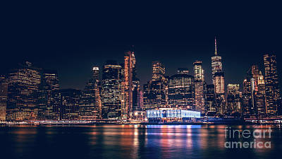 Photograph - Downtown At Night by Dheeraj Mutha