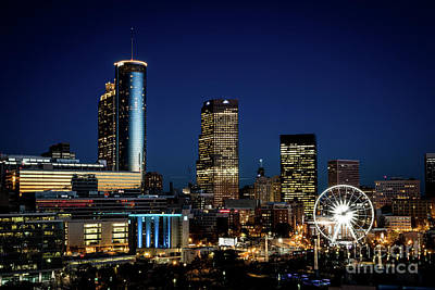 Photograph - Downtown Atlanta Night View  by Sanjeev Singhal