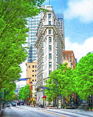 Photograph - Downtown Atlanta - The Flatiron Building by Mark Tisdale