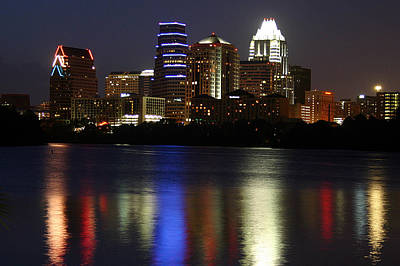 Photograph - Downtown Austin Skyline by Xjben