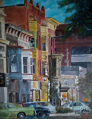 Painting - DownTown Century Buildings by CJ  Rider