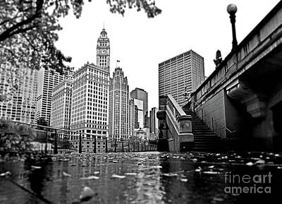 Photograph - Downtown Chicago From Riverwalk South by Carlos Alkmin