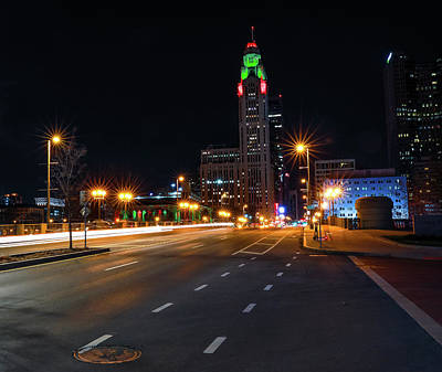 Photograph - Downtown Columbus At Night by Dan Sproul