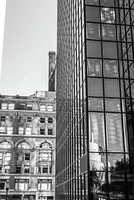 Photograph - Downtown Dallas Black And White by Dan Sproul