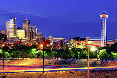 Royalty-Free and Rights-Managed Images - Downtown Denver Colorado Skyline in Color by Gregory Ballos