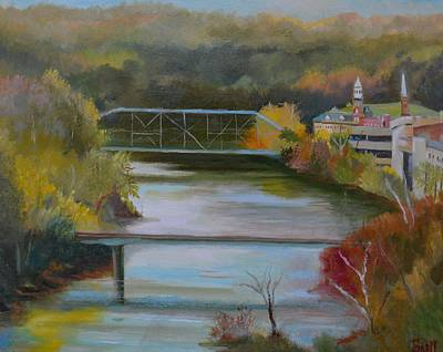 Painting - Downtown Frankfort by Roger Snell