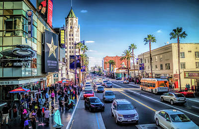 Painting - Downtown Hollywood Boulevard by Christopher Arndt