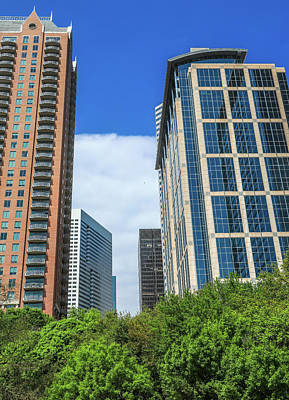 Photograph - Downtown Houston From Discovery Green Park by Dan Sproul