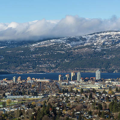 Photograph - Downtown Kelowna From Dilworth by Dave Matchett