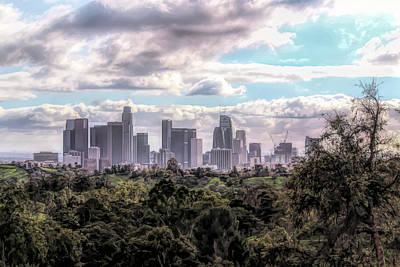 Photograph - Downtown Los Angeles by Alison Frank