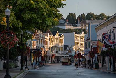 Photograph - Downtown Mackinac Morning by Dan Friend