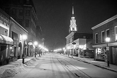 Photograph - Downtown Newburyport  Ma In The Winter Black And White by Toby McGuire