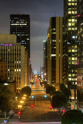 Photograph - Downtown Of Los Angeles Streets by Shabdro Photo