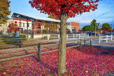Photograph - Downtown Rogers Arkansas Autumn Fall Landscape by Gregory Ballos