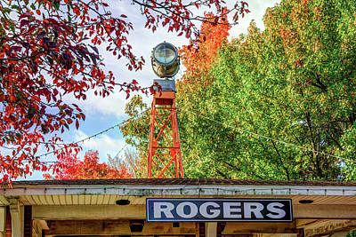 Photograph - Downtown Rogers Arkansas Covered In Autumn Colors by Gregory Ballos