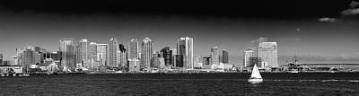 Photograph - Downtown San Diego Panorama by David Patterson