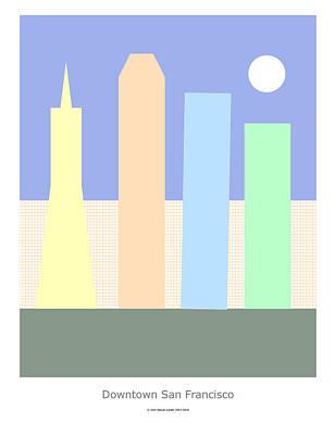 Digital Art - Downtown San Francisco by John Steven Calder