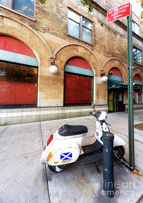 Photograph - Chelsea Scooter New York City by John Rizzuto