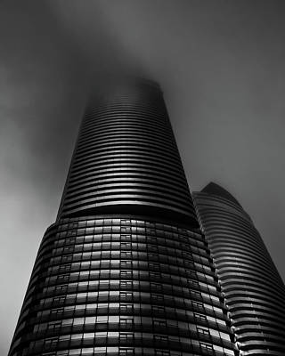 Art Print featuring the photograph Downtown Toronto Fogfest No 21 by Brian Carson