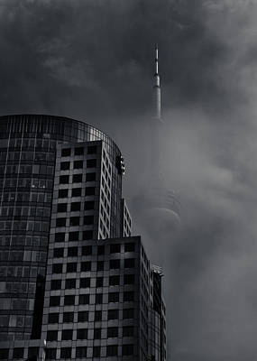 Art Print featuring the photograph Downtown Toronto Fogfest No 7 by Brian Carson