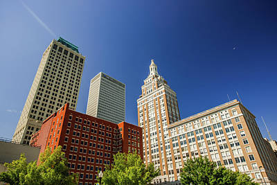 Photograph - Downtown Tulsa Art Deco Skyline by Gregory Ballos