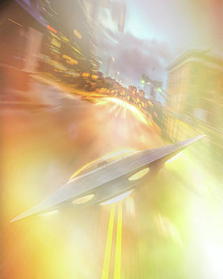 Photograph - Downtown Ufo by Bob Orsillo
